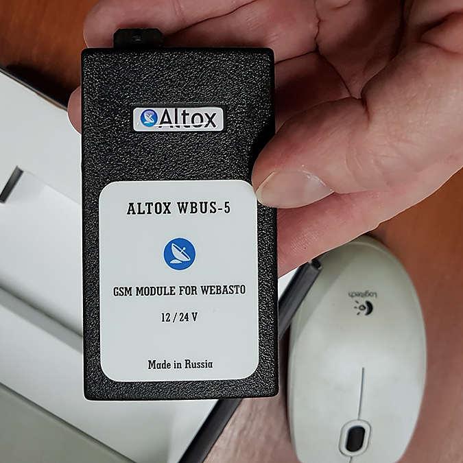 Altox - удобное управление отопителем WEBASTO